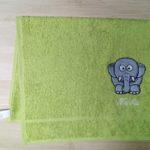 výšivka na ručník slon